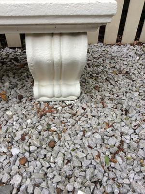 Heavy Stone Garden Bench