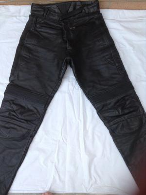 2 pairs leather biker trousers