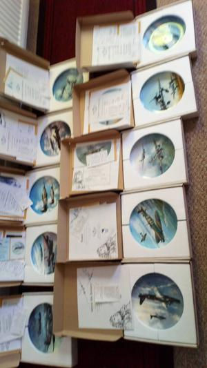 A complete set of 10 coalport reach for the sky plates