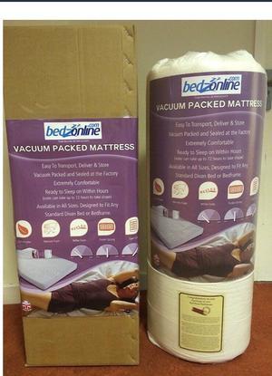 Brand new boxed single memory foam mattress - boxed & unopened