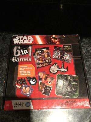 Star Wars 6 in 1 boxed game set.