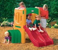 Little tikes climbing frame and double slide