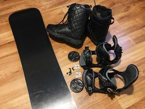 Snowboard Set AIRTRACKS Board+Binding+Boots+Bag