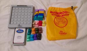 Think Fun Rush Hour Traffic Jam Game In Bag. Complete And Very Good Condition.