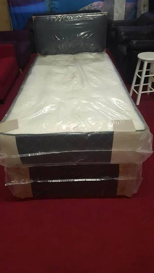 brand new Deep tuft 3ft single divan base & mattress (exclud
