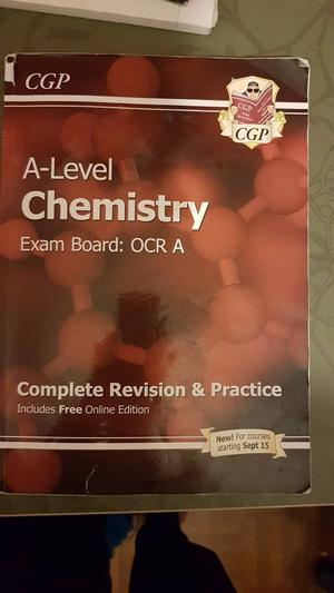 A level chemistry CGP OCR revision book.  new spec