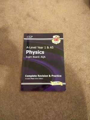 Aqa A-Level Physics Year 1 & Year 2 books including extra books (Basically new condition)
