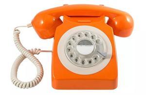 GPO Orange Rotary phone !! New !!