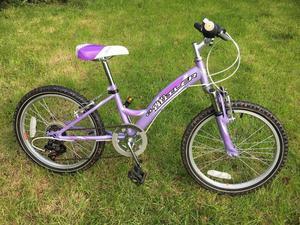 Girls 20 inch wheel Claude Butler Vixen purple bike