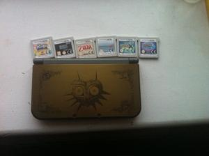 LIMITED EDITION Nintendo 3DS XL Majora's Mask Edition with 7 Games (Used) (No box)