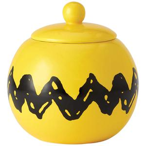 NEW PEANUTS Zig Zag Cookie Jar 8 Inch Ceramic Charlie Brown