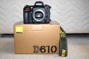 Nikon D610 Body Only As New. Shutter Count 224