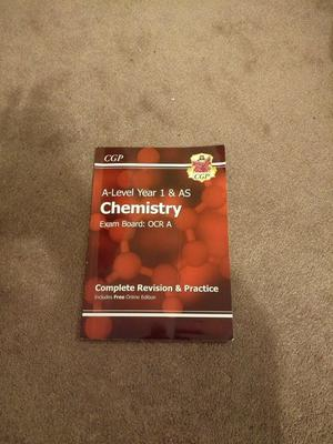 OCR A A-Level Chemistry Year 1 & Year 2 books for new spec (Basically new condition)