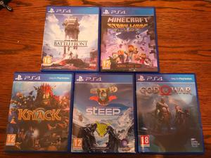 Ps4 games including god of war