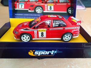 SCALEXTRIC SPORT C MITSUBISHI LANCER EVO 7 WRC No8