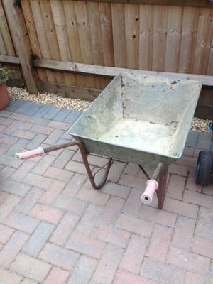 Small wheelbarrow with solid wheel