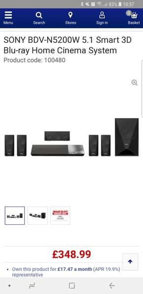 Sony blu ray home theatre system
