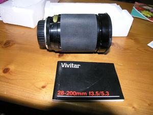 Vivitar Olympus Fit 28 to 200 Macro Makro One Touch Zoom