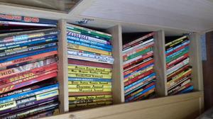 Loads of tv related paperbacks & annuals, also lots of vinyl