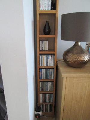 OAK TALL STORAGE UNIT...BARGAIN!!!!!