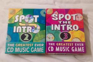 SPOT THE INTRO 2 AND 3 CD QUIZ GAMES. COMPLETE AND GOOD CONDITION.