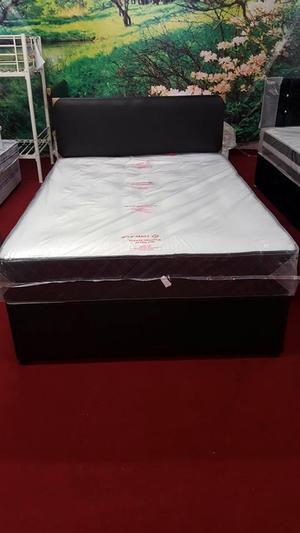 brand new Deep tuft 4ft6 double divan base & mattress (exclu