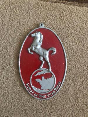 HORSE OF THE YEAR SHOW PLAQUE