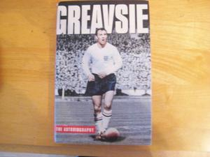 Jimmy Greaves (Greavsie) Signed 1st Edition  Hardback With Dust Cover.