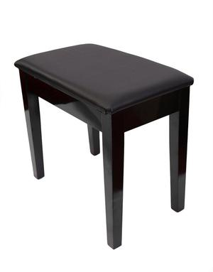 PRELUDE Piano Stool with Book Storage, Polished Ebony - FREE
