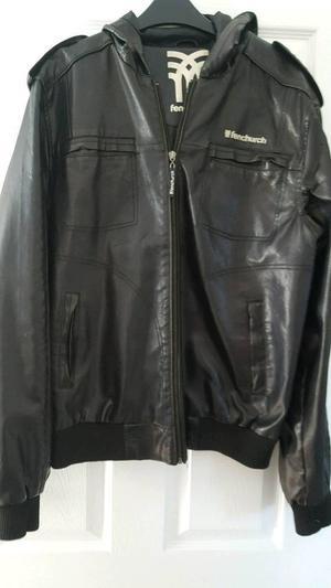 Men's Fenchurch leather style jacket size Large