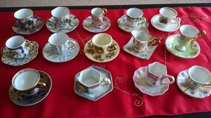 Miniature coffee cups ans saucers collectables