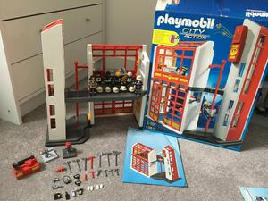 Playmobil fire station, boxed with instructions
