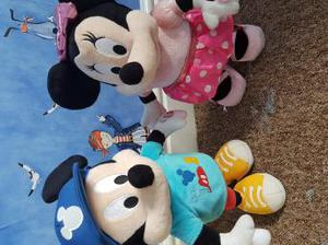 talking and walking Mickey and Minnie