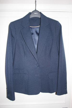 Ladies navy blue striped jacket