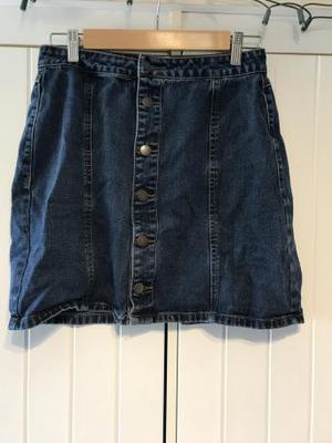 New look denim mini skirt