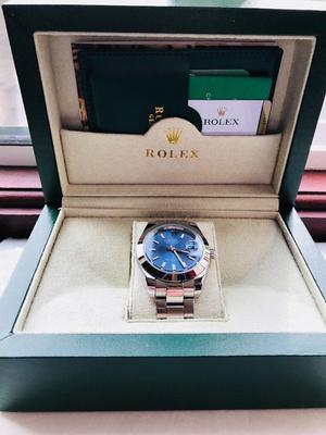 Rolex Datejust Silver Blue Dial