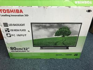 "Toshiba 32"" LED HD tv Freeview Hdmi Usb original Box"
