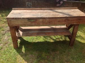Vintage retro workbench/table