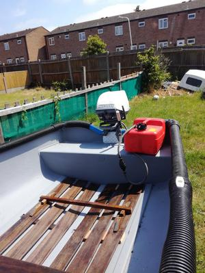 12FT Fishing Boat with Trailer & Engine.
