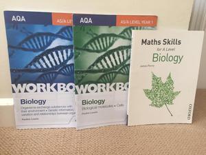 AQA Biology A Level Workbooks and Maths Skills  Spec