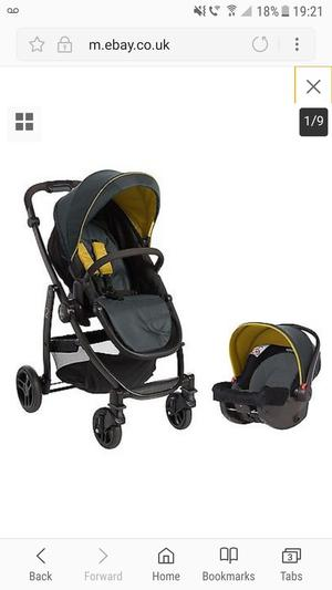 Graco Evo Pram And Travel System Sand Posot Class