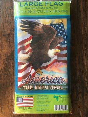 New Large Garden Flag Eagle America by Hummingbird Haven 28""