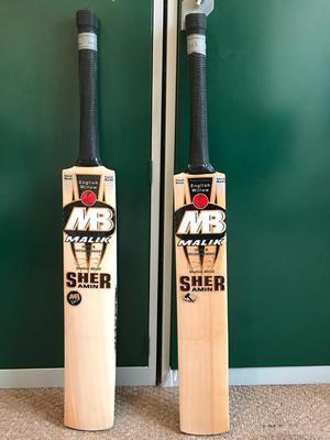 Two new cricket bats