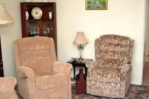 2 seated settee and Chair to match