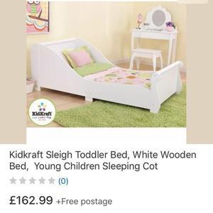 BRAND NEW kidkradt SLEIGH toddler bed