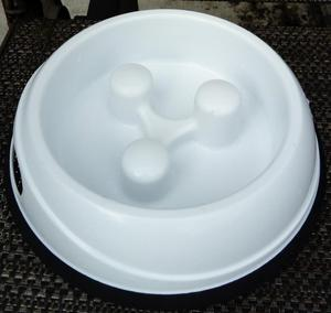 Dog - Anti Gulp feeding bowl – White