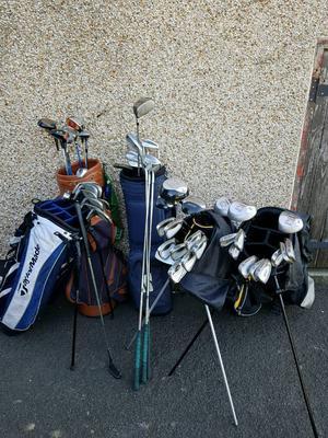 Job lot of clubs