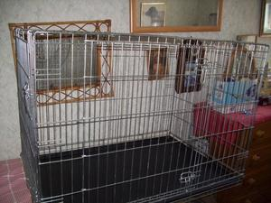 Large Double Door Dog Cage 76 cm high x 107cm long x 70cm wi