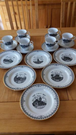 Limited Edition Porcelain Tea Set Featuring Winchester