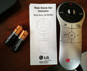 Magic LG television remote control (plus batteries and instructions)